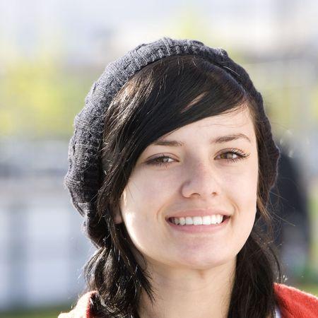 Happy teen with cap photo
