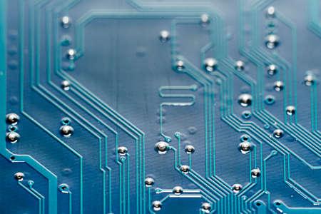 Close up shot of an electronic circuit board