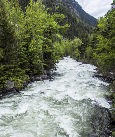 Shot of a natural fast flowing river Stock Photo