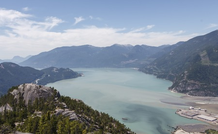 to and fro: A view of Howe Sound, taken fro the Stawamus Chief in BC, Canada