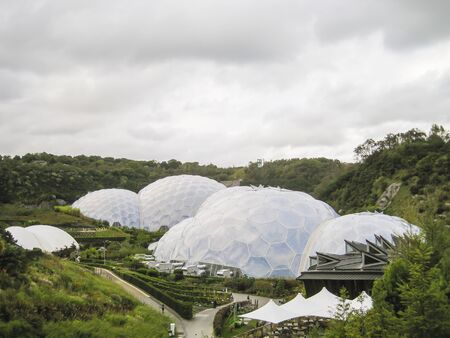 eden: View of the Eden Project in Cornwall, UK