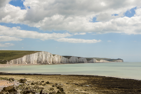 severn: Shot of the Severn Sisters Coastal Cliffs, Sussex, UK Stock Photo