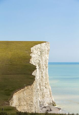 severn: Shot of one of the Severn Sisters, the highest Coastal Cliffs in the UK Stock Photo