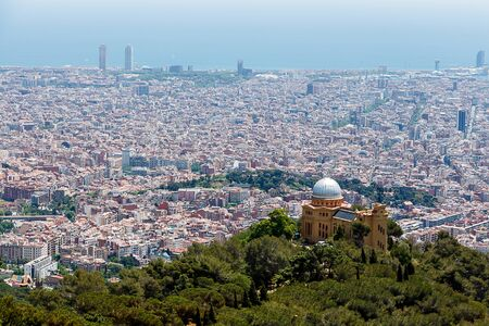 tibidabo: A view of the city of Barcelona taken from Tibidabo.