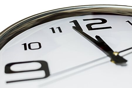 Clock showing 2 minutes to midnight, could be countdown concept