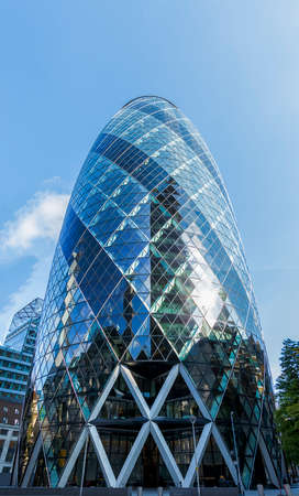 Londons Gherkin Building, named so because of its shape Editorial