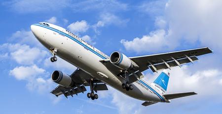 Kuwait Airways Passenger Jet. Airbus A300-600, Landing Approach Editorial