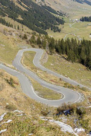 twisty: Shot of a twisty windy mountain road