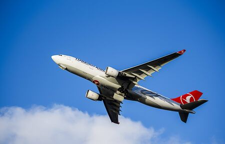 passenger aircraft: Passenger Aircraft in Turkish Airlines Livery. Airbus A330