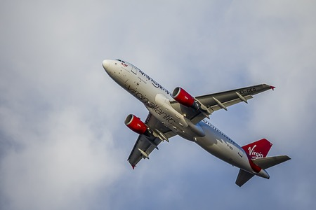Passenger Aircraft in Virgin Atlantic Livery. Airbus A320 Editorial