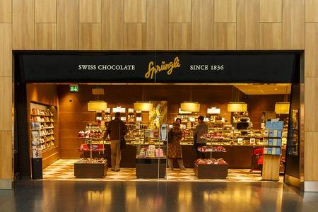 A Shot of a Sprungli chocolate store
