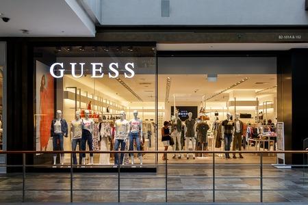 Guess Designer store, Marina BayShopping Centre, Singapore Editorial
