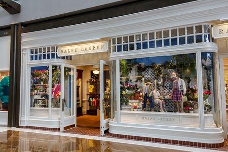 retail therapy: Ralph Lauren designer boutique, Marina Bay Shopping mall, Singapore
