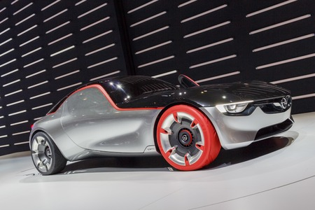 The Opel GT, a futuristic looking concept car Editorial