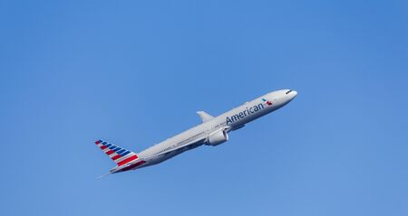 Passenger Aircraft In American Airlines Livery. Boeing 777
