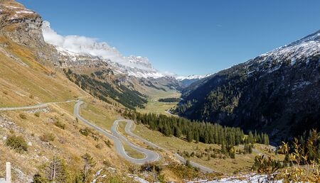 twisty: Winding Road Panorama of Klausenpass, Switzerland
