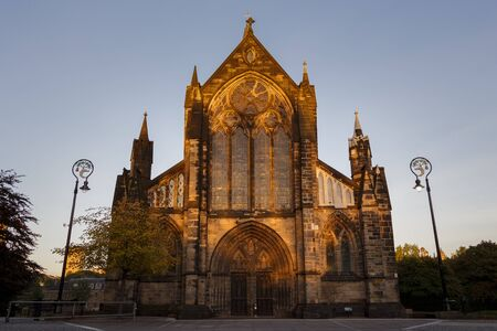 glasgow: Glasgow Cathedral at Sunset