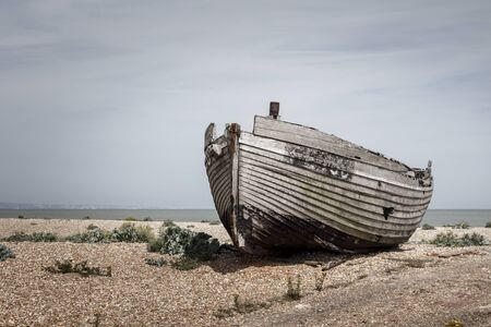 Old Abandoned Boat on a Beach