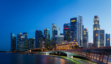 SINGAPORE - CIRCA 2016: Singapore Downtown and Financial District