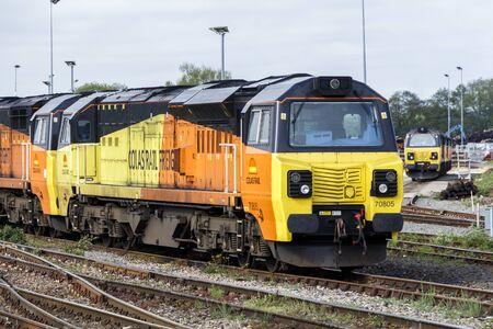 Modern Freight Locomotive Editorial