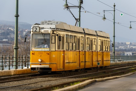 BUDAPEST, HUNGARY - CIRCA 2016: European Tram Editorial