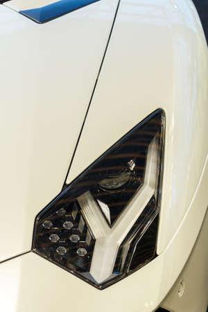 Exotic Car Headlight Stock Photo
