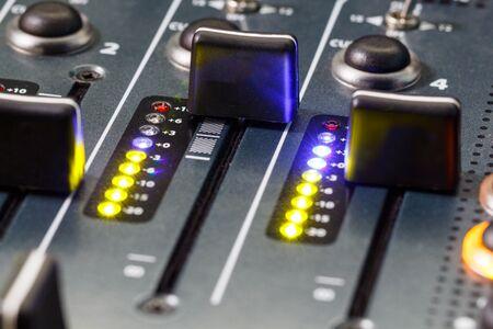 DJ Mixer Volume Faders