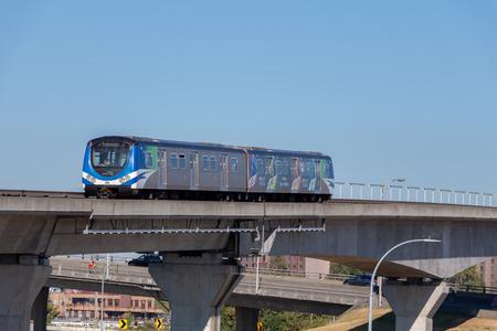 Vancouver, Canada - Circa 2018 : Canada Line Skytrain