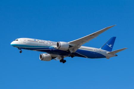 vancouver, Canada - Circa 2018 : Boeing 787-9 Dreamliner in Xiam