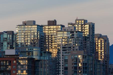 Modern Commmercial and residential high rise buildings Reklamní fotografie