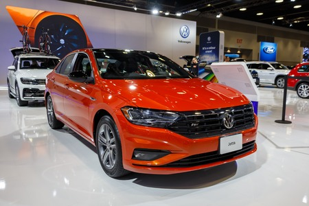 Vancouver, Canada - March 2019 : VW Jetta, taken at 2019 Vancouver Auto Show