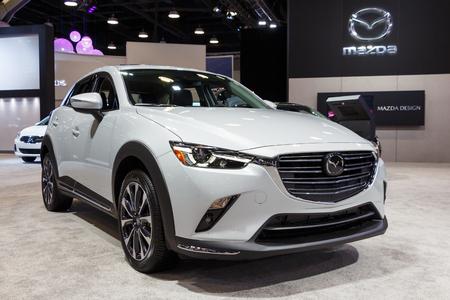 Vancouver, Canada - March 2019 : Mazda CX3, taken at 2019 Vancouver Auto Show Editorial