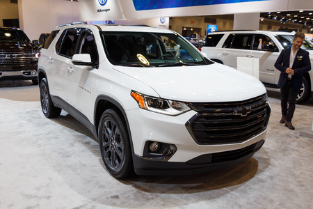 Vancouver, Canada - March 2019 : Chevrolet Traverse, taken at 2019 Vancouver Auto Show Editorial