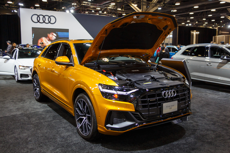 Vancouver, Canada - March 2019 : Audi Q8, taken at 2019 Vancouver Auto Show