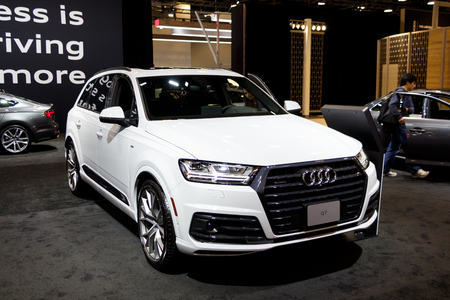 Vancouver, Canada - March 2019 : Audi Q7, taken at 2019 Vancouver Auto Show Editorial