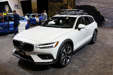 Vancouver, Canada - March 2019 : Volvo V60, taken at 2019 Vancouver Auto Show Editorial