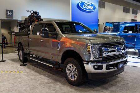 Vancouver, Canada - March 2019 : Ford F350, taken at 2019 Vancouver Auto Show Editorial