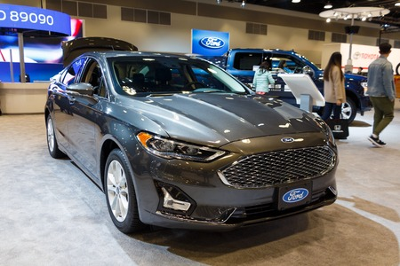 Vancouver, Canada - March 2019 : Ford Fusion, taken at 2019 Vancouver Auto Show