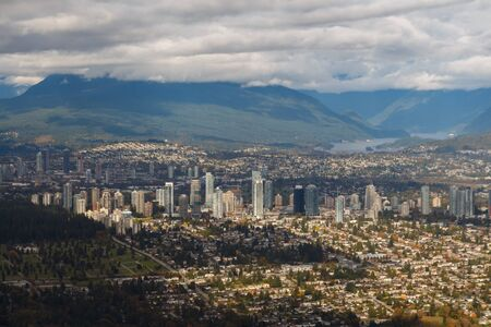Vancouver Neighbourhoods of Burnaby and Brentwood from the air