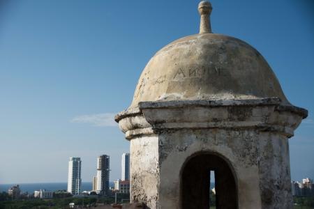 gazer: San Felipe fortress balcony Stock Photo