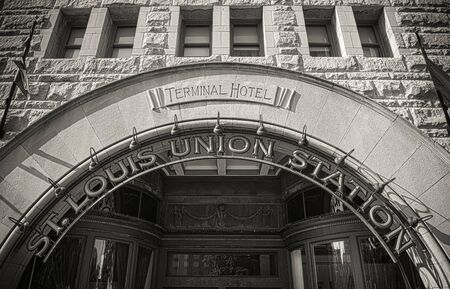 st  louis arch: Facade of St  Louis Union Station Terminal Hotel