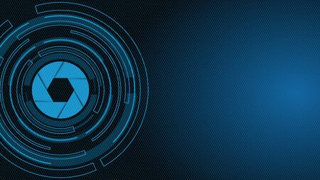 Blue technology circle. Graphic design for book, template, website, poster, packaging