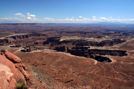Giant Footprint, Grand Point Overview, Canyonlands national Park, utah Stock Photo