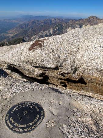 wasatch: Lone Summit, Lone Peak Wilderness, wasatch mounatins, Utah Stock Photo
