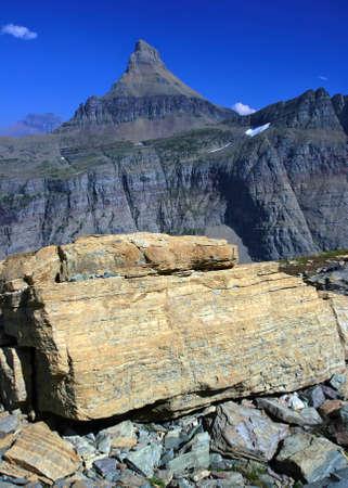 reynolds: Mount Reynolds, Logans Pass, Glacier national Park, montana Stock Photo