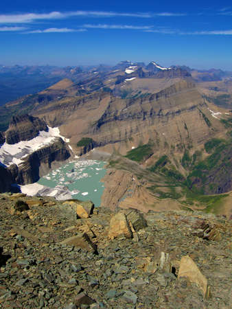 Sea of Peaks, view north form mount gould, glacier national park, montana
