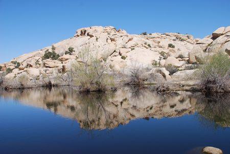 rock reflections at barker dam