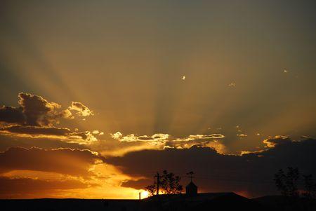 peaceful sunset Banco de Imagens