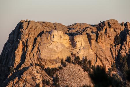 mount rushmore: Sunrise over Mount Rushmore Memorial South Dakota Stock Photo