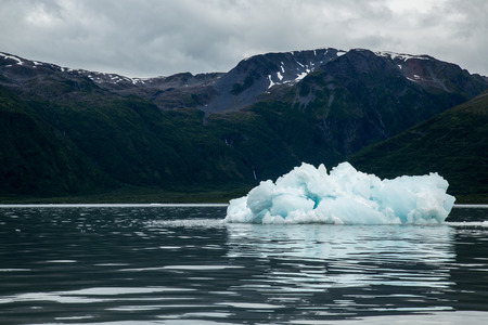 calving: Little Icebergs float of from Glacier Calving